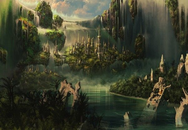 steampunk landscape by grimdreamart - photo #13